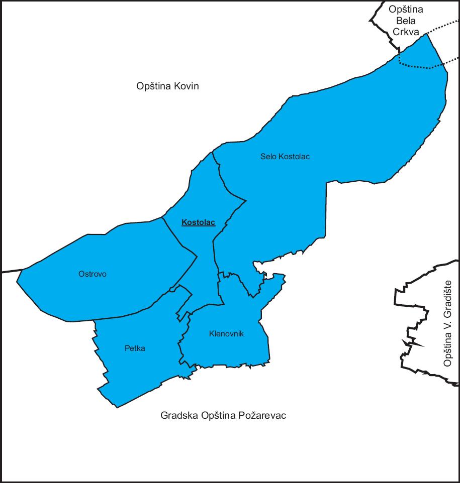 mapa srbije kostolac Gradska opština Kostolac — Vikipedija, slobodna enciklopedija mapa srbije kostolac