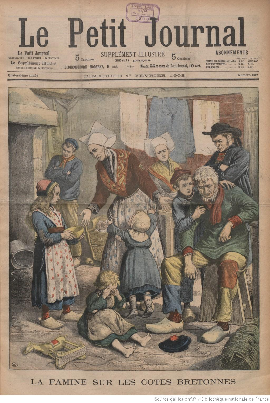 File le petit journal 1er f vrier wikimedia commons - Le journal de bretagne ...