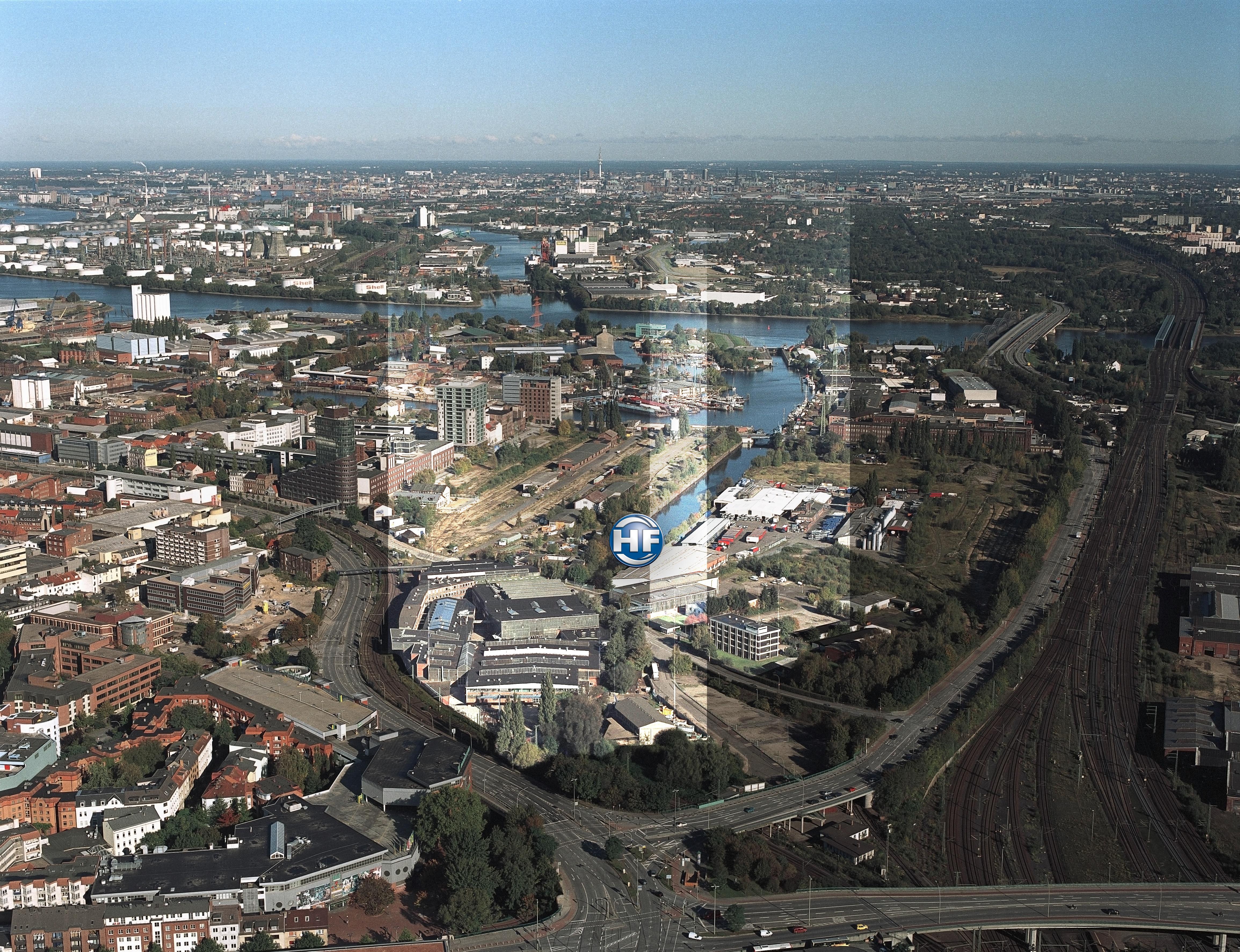 File Luftbild Hamburg Harburg Hf Jpg Wikimedia Commons