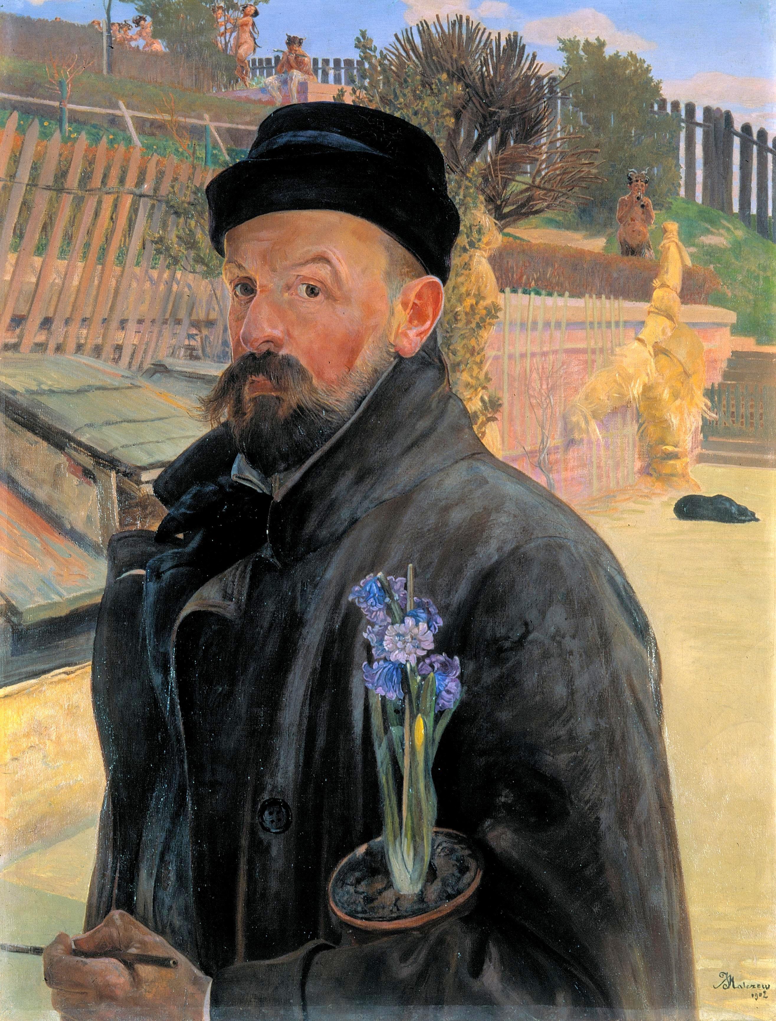 Fichier:Malczewski Jacek Autoportret z hiacyntem.jpg