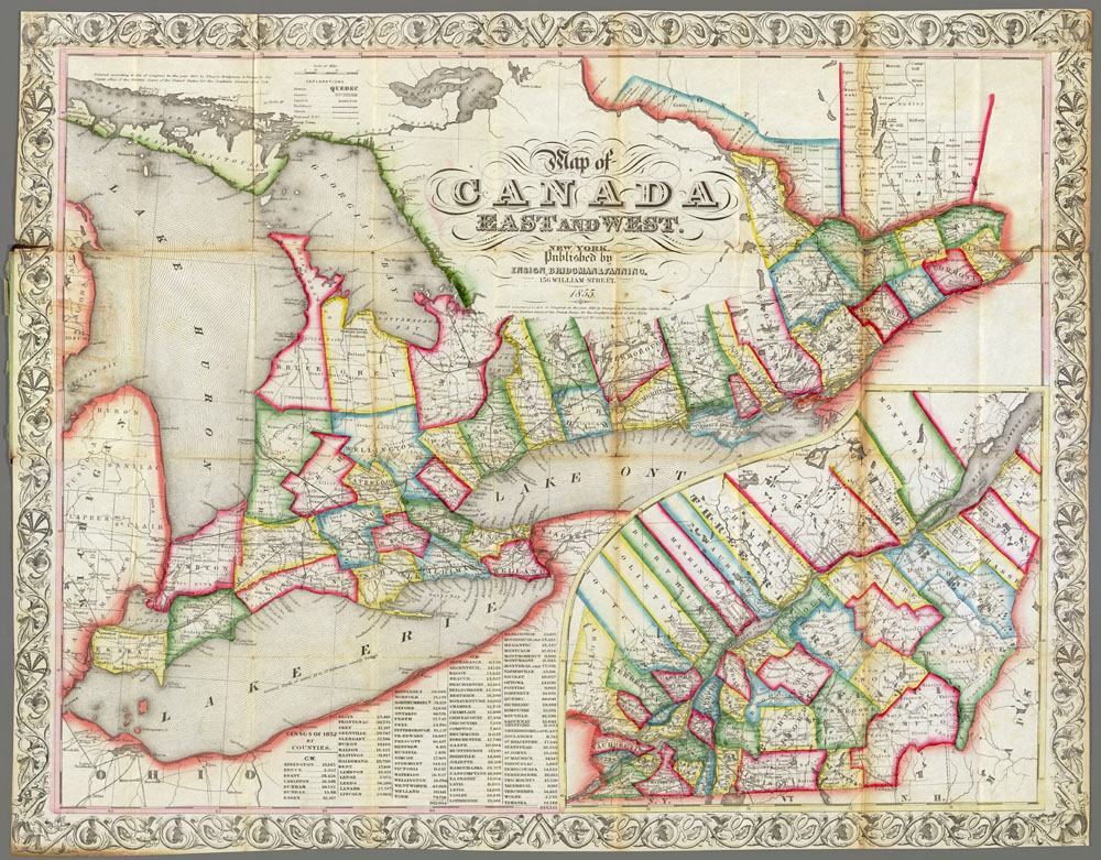 Map Of Canada East And West File:Map of Canada East and West, 1855.   Wikimedia Commons