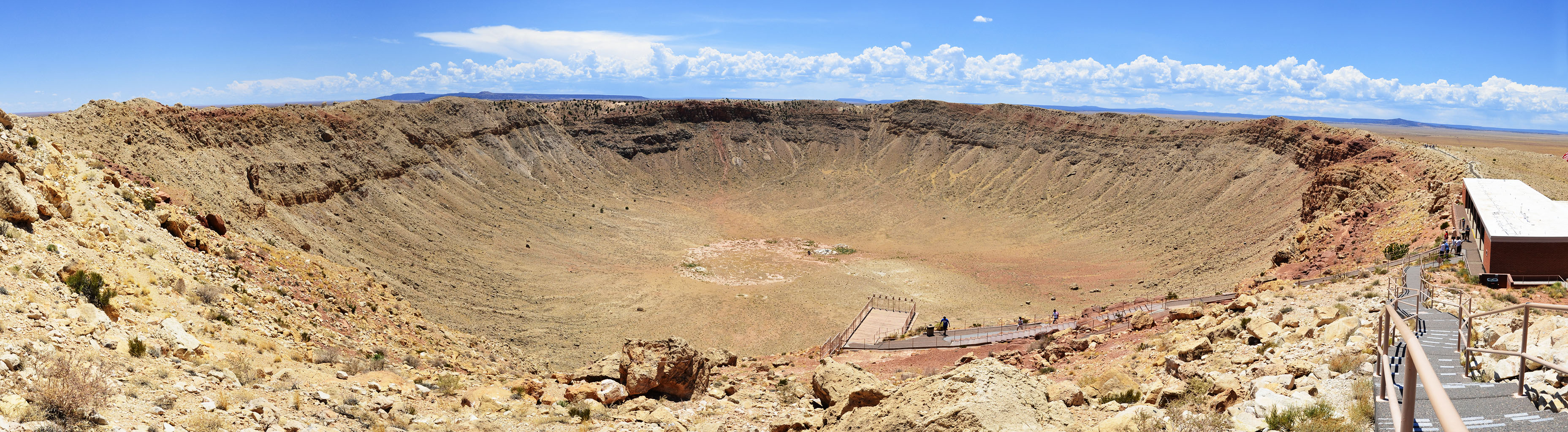 This is a stitched panoramic image of Meteor (or Barringer) Crater located near Winslow, Arizona,... [+] 2012 07 11. Image credit: wikimedia user Tsaiproject, CC BY-SA 3.0