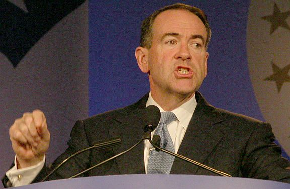 Mike Huckabee in 2007 in Washington, DC at the Values Voters conference