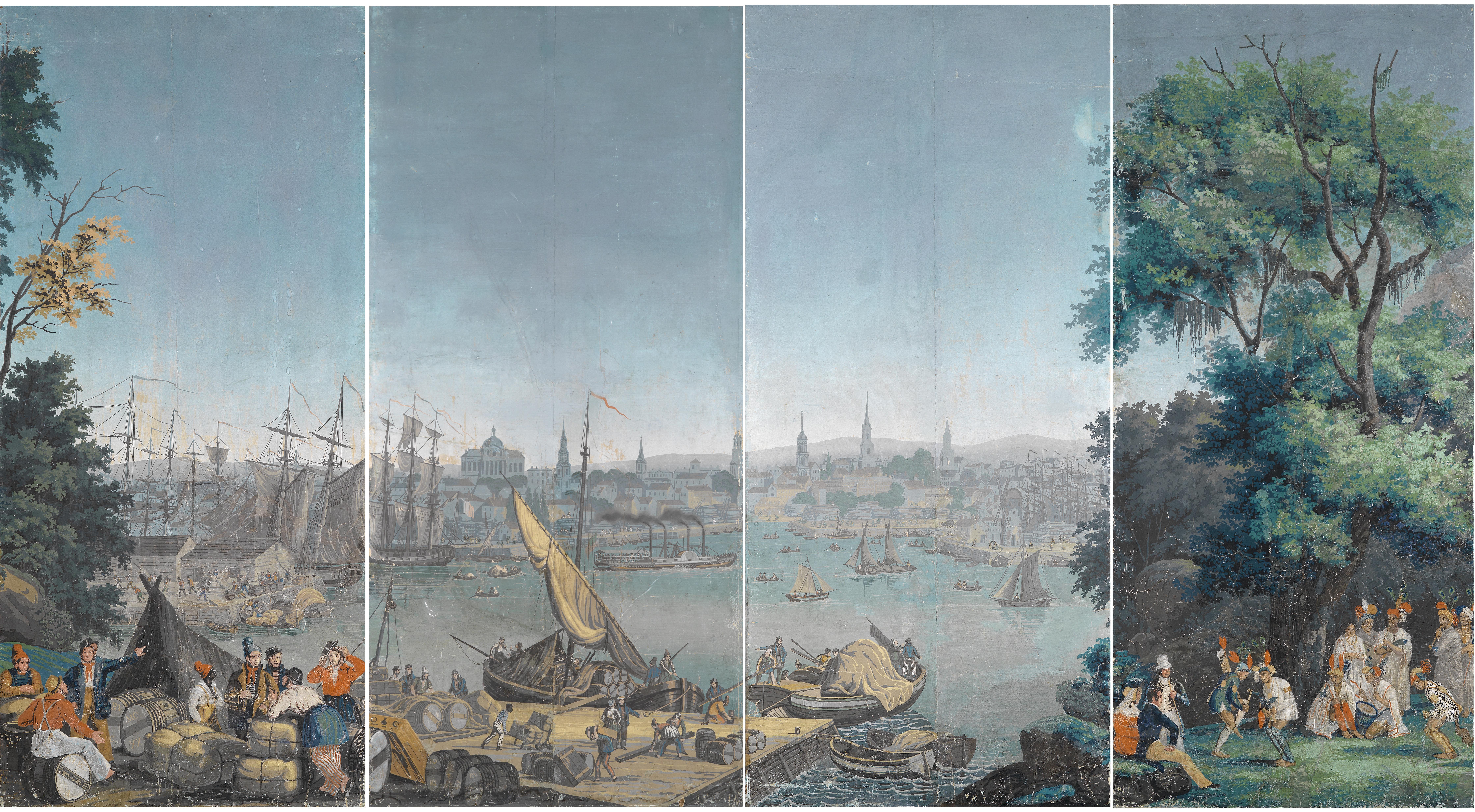 File:Panoramatapete Hafenszene in Boston 1834.jpg ...