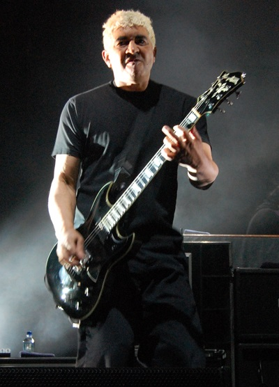 Touring guitarist, former Germs member, and Foo Fighters member Pat Smear has performed with the surviving members of Nirvana several times in the 2010s. Patsmear.jpg