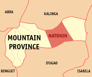 Map of Mountain Province showing the location of Natonin