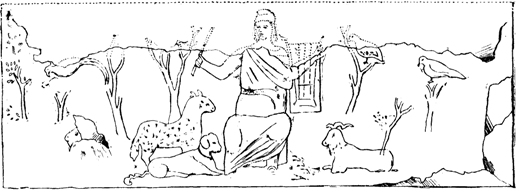 File:Picture of Orpheus, found in the Catacombs of Priscilla.png