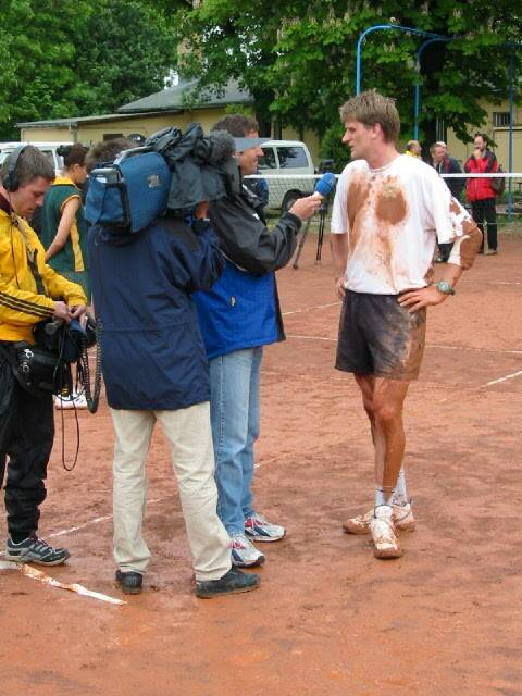 interview in the mud