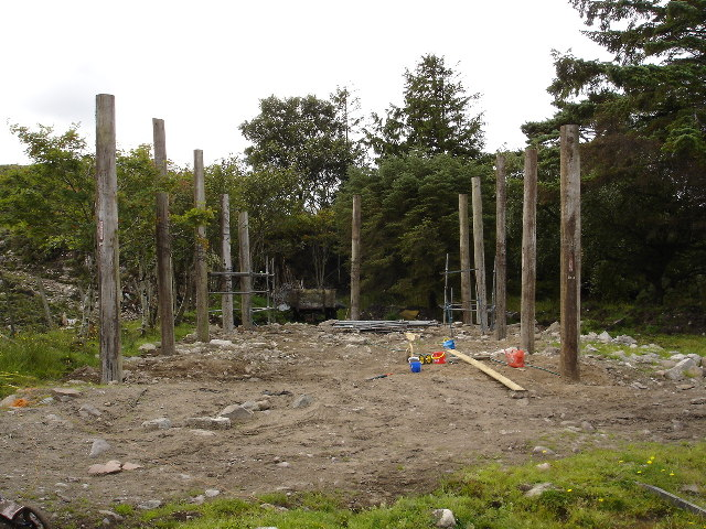 File:Pole barn under construction - geograph.org.uk ...