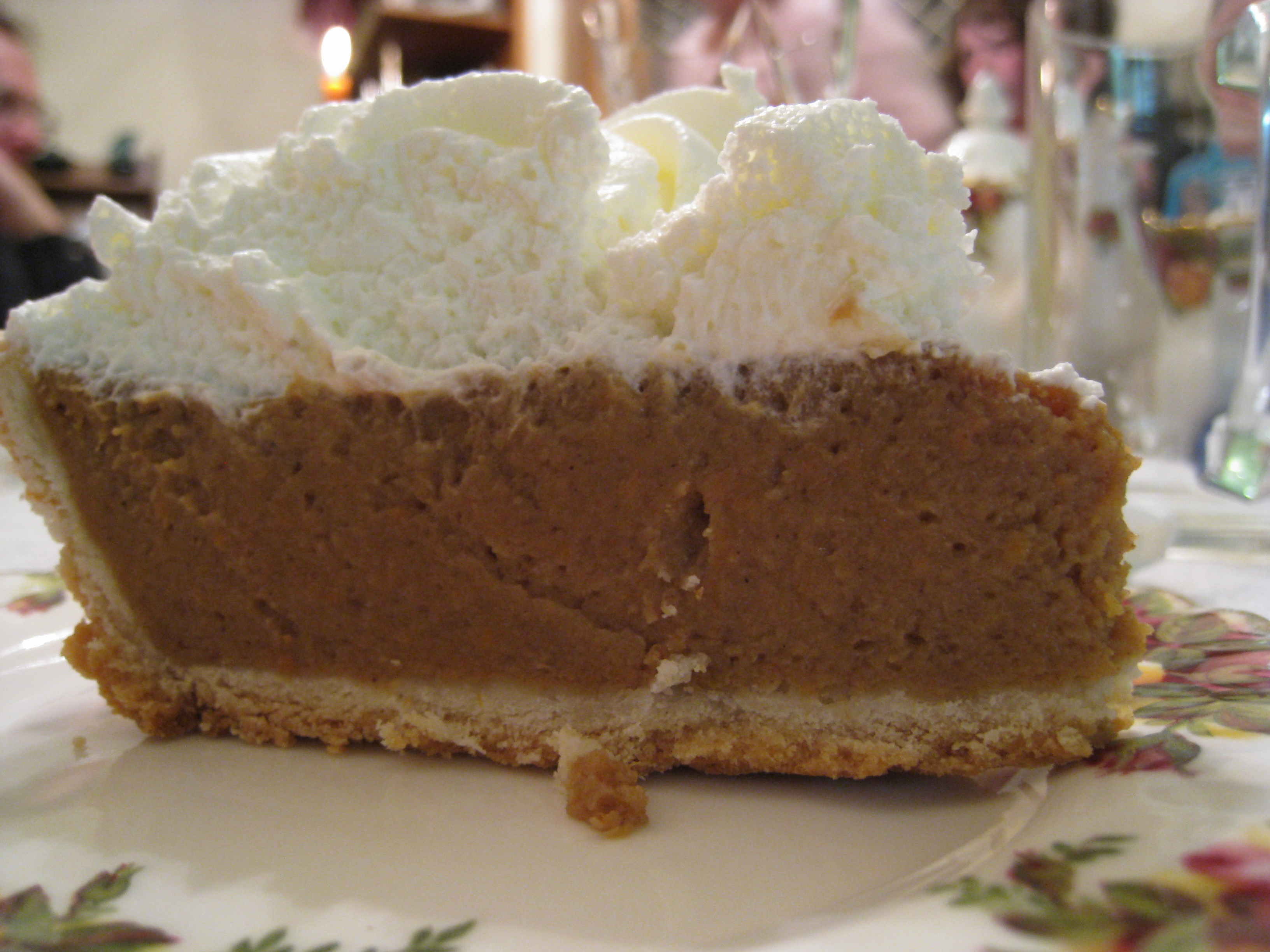 Description Pumpkin pie with whipped cream topping, October 2008.jpg