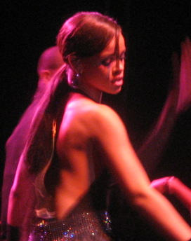 Rihanna performing at the KIIS-FM Jingle Ball, December 2006
