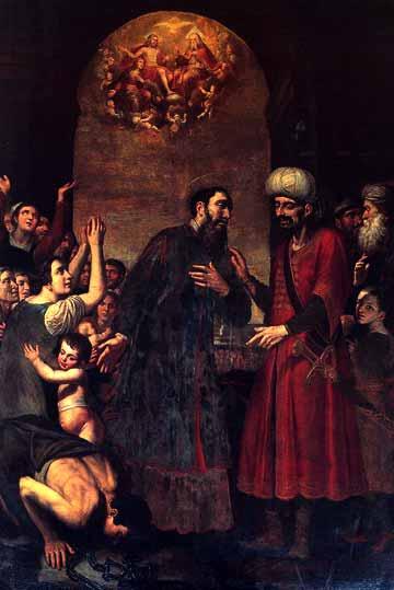 Giovanni Bernardino Azzolino (ca 1572-1645): St. Paulinus frigjør slaven (1626-1630), Pio Monte della Misericordia