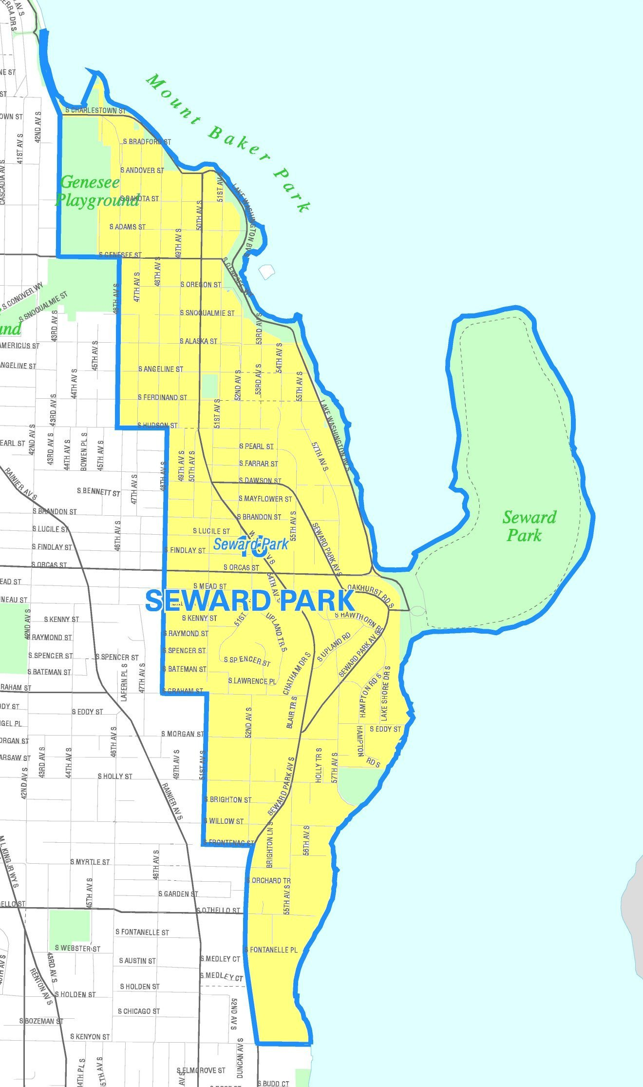 Seward Park Map Dosiero:Seattle   Seward Park map.   Vikipedio Seward Park Map