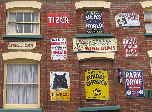 Selection of enamel signs - geograph.org.uk - 1198777