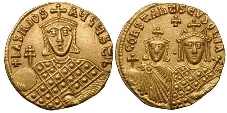 Dosya:Solidus-Basil I with Constantine and Eudoxia-sb1703.jpg