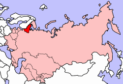 Location of Karelo-Finnish SSR