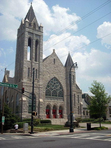 A United Methodist church dedicated to Saint Mark, in Atlanta, Georgia St. Mark United Methodist Church.jpg