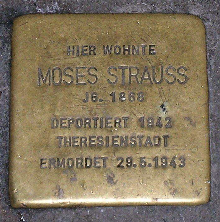Stolpersteine in Karlstadt Moses Strauss.JPG