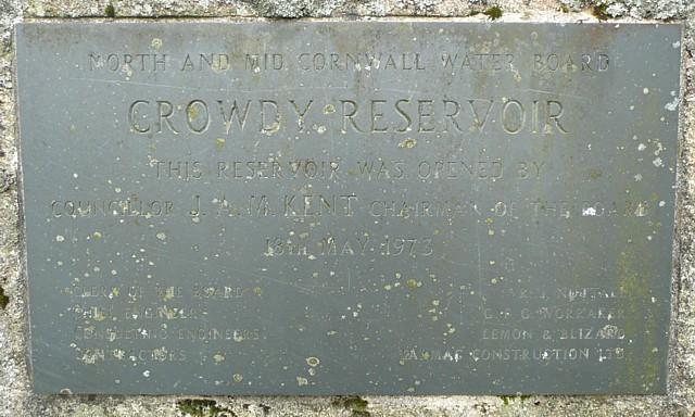 Stone commemorating the opening of Crowdy Reservoir, Advent - geograph.org.uk - 1322147