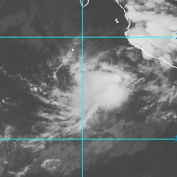 Tropical Storm Gilma is photographed off the c...