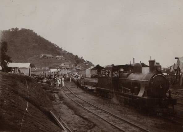 Undated British archival photo of locomotive in Nigeria The National Archives UK - CO 1069-71-65.jpg