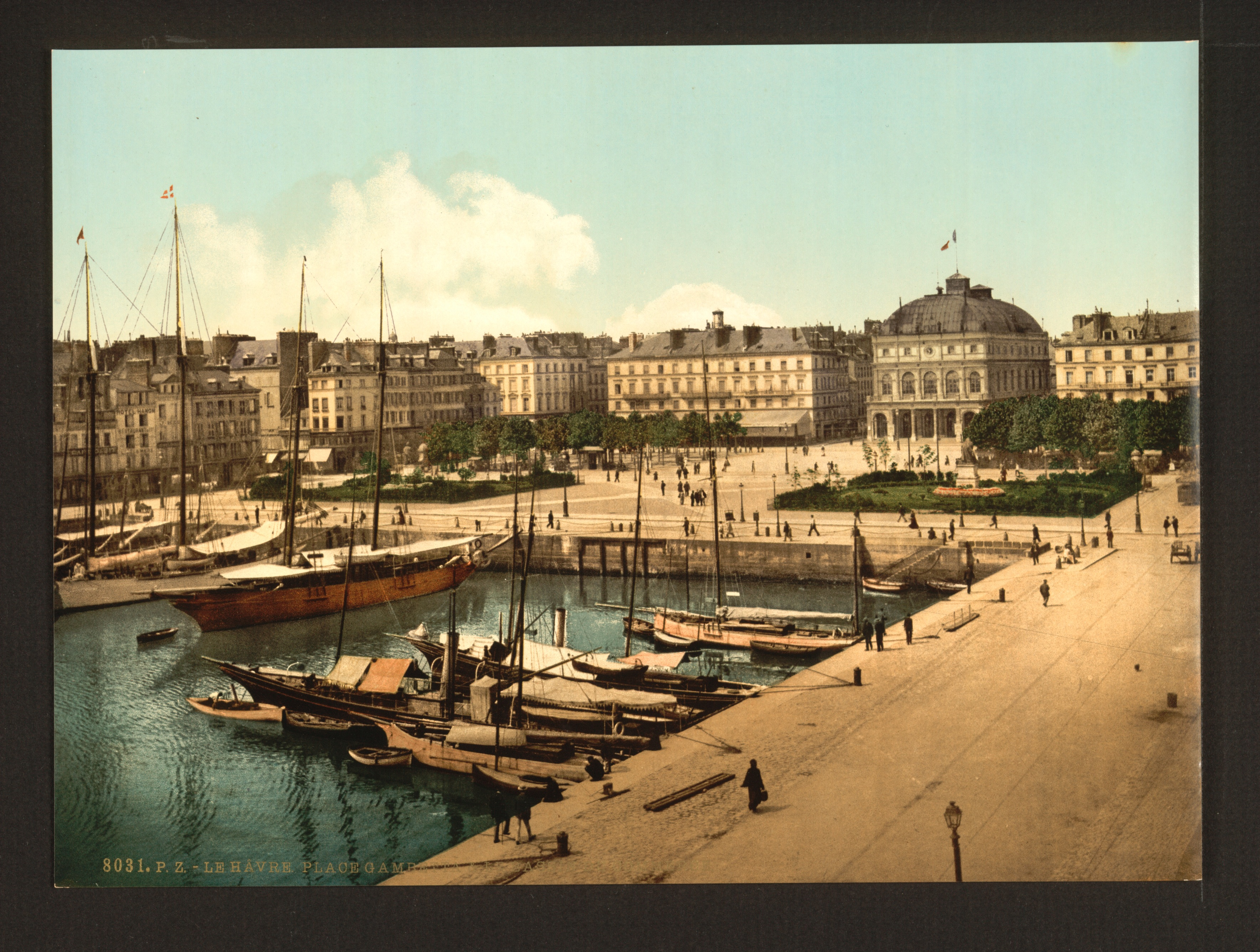 The Place Gambetta and docks, Havre, France-LCCN2001698147.jpg
