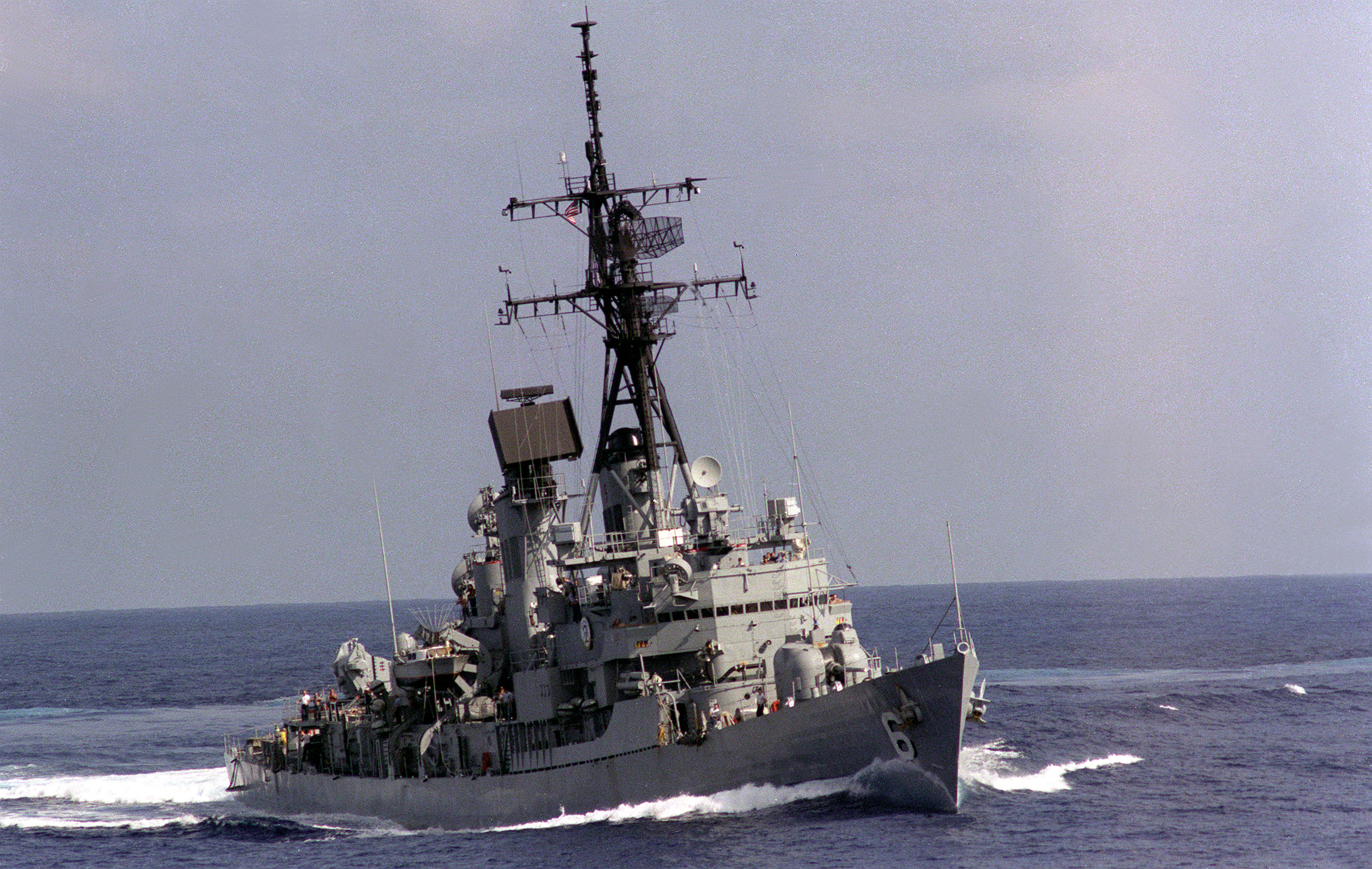 USS Barney (DDG-6) underway at sea on 1 November 1984 (6416532).jpg
