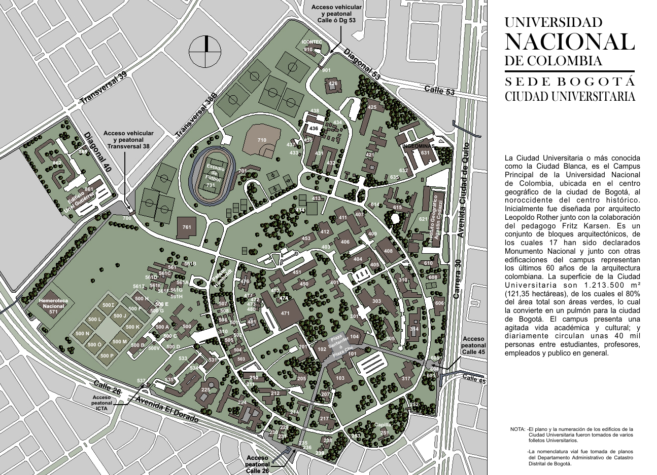 Mapa universidad nacional de colombia analizando el for Mapa facultad de arquitectura