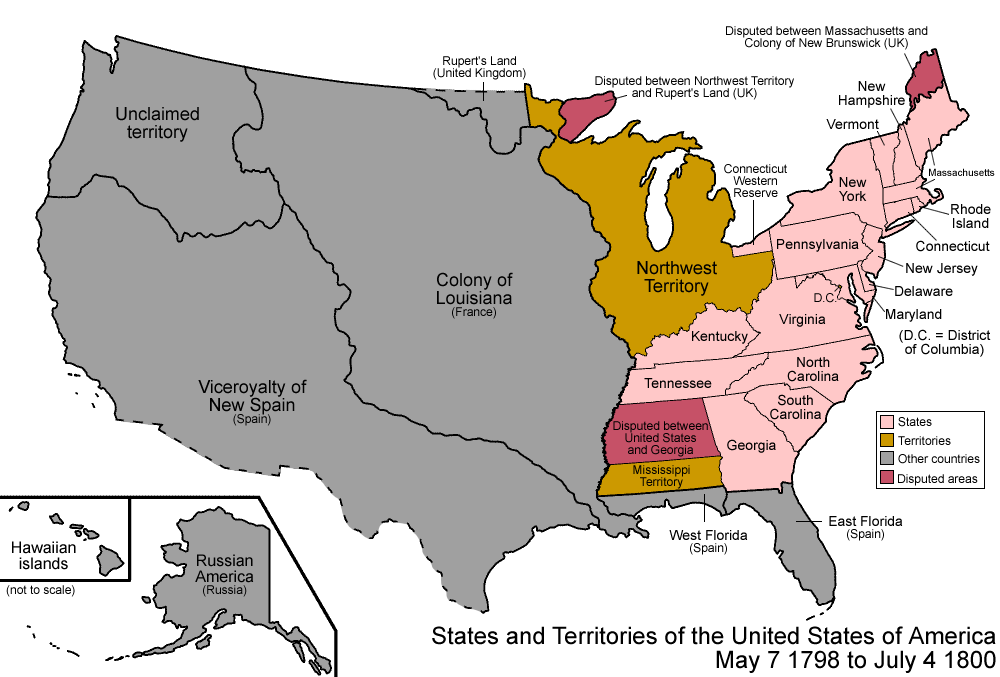 Indiana Territory Map 1800 and Information Page