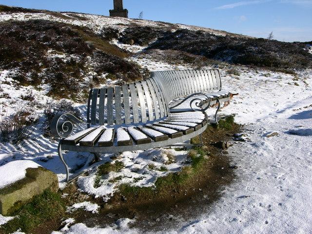 Viewing bench below Peel Monument - geograph.org.uk - 371073