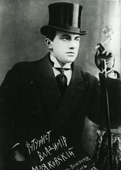 "Photo c. 1914 (caption: ""Futurist Vladimir Mayakovsky"")"