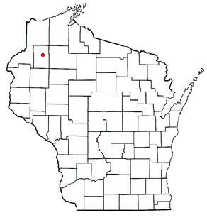 Location of Springbrook, Wisconsin