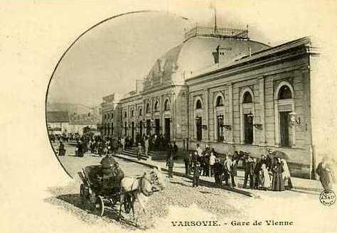 Gare de Vienne (dworzec Wiedenski) à Varsovie aujourd'hui disparu.