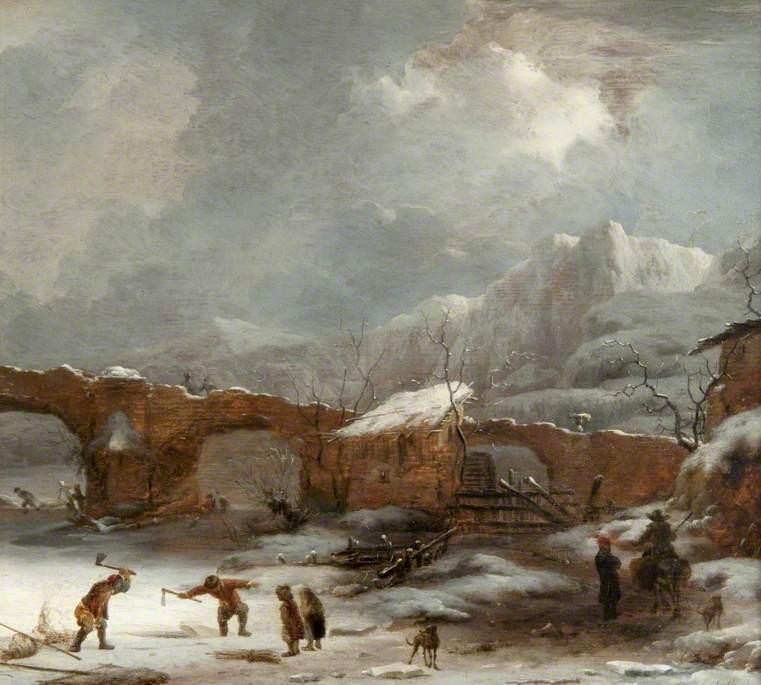 A Winter Landscape with the Pont du Rhône