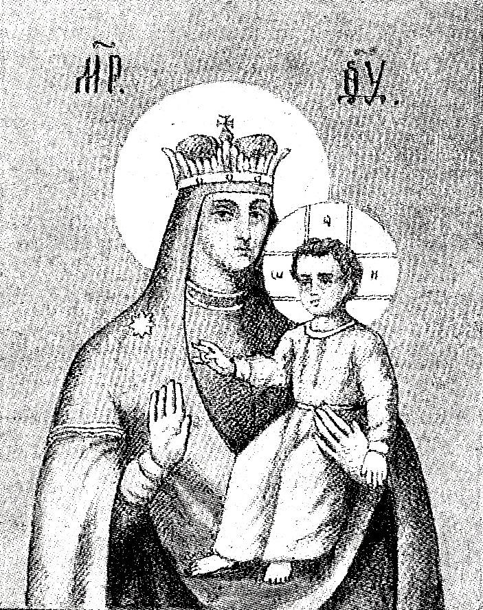 Святогорская икона по С. И. Снессоревой.