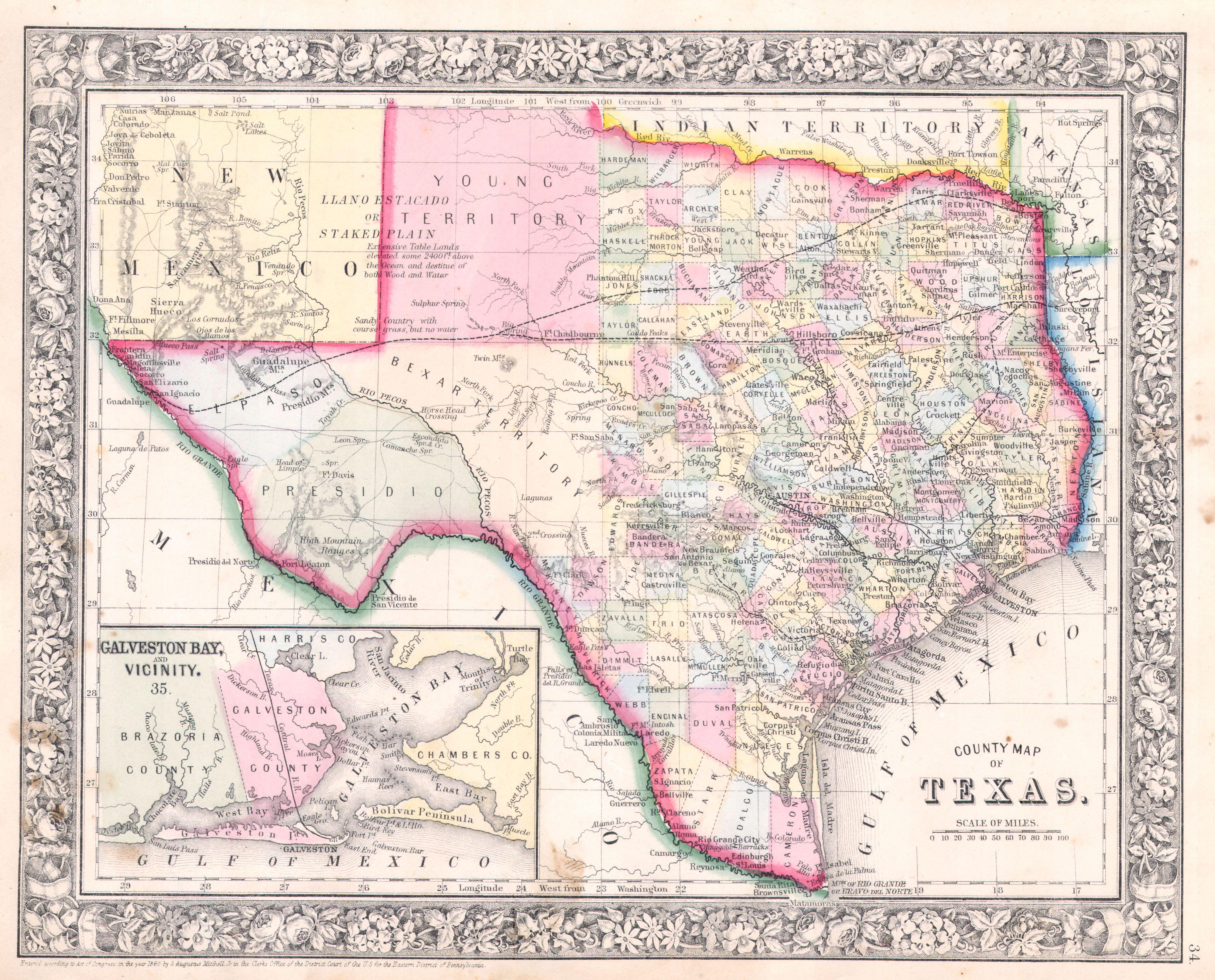 File Mitchell Map Of Texas Geographicus TXmitchell - Atlas map of texas