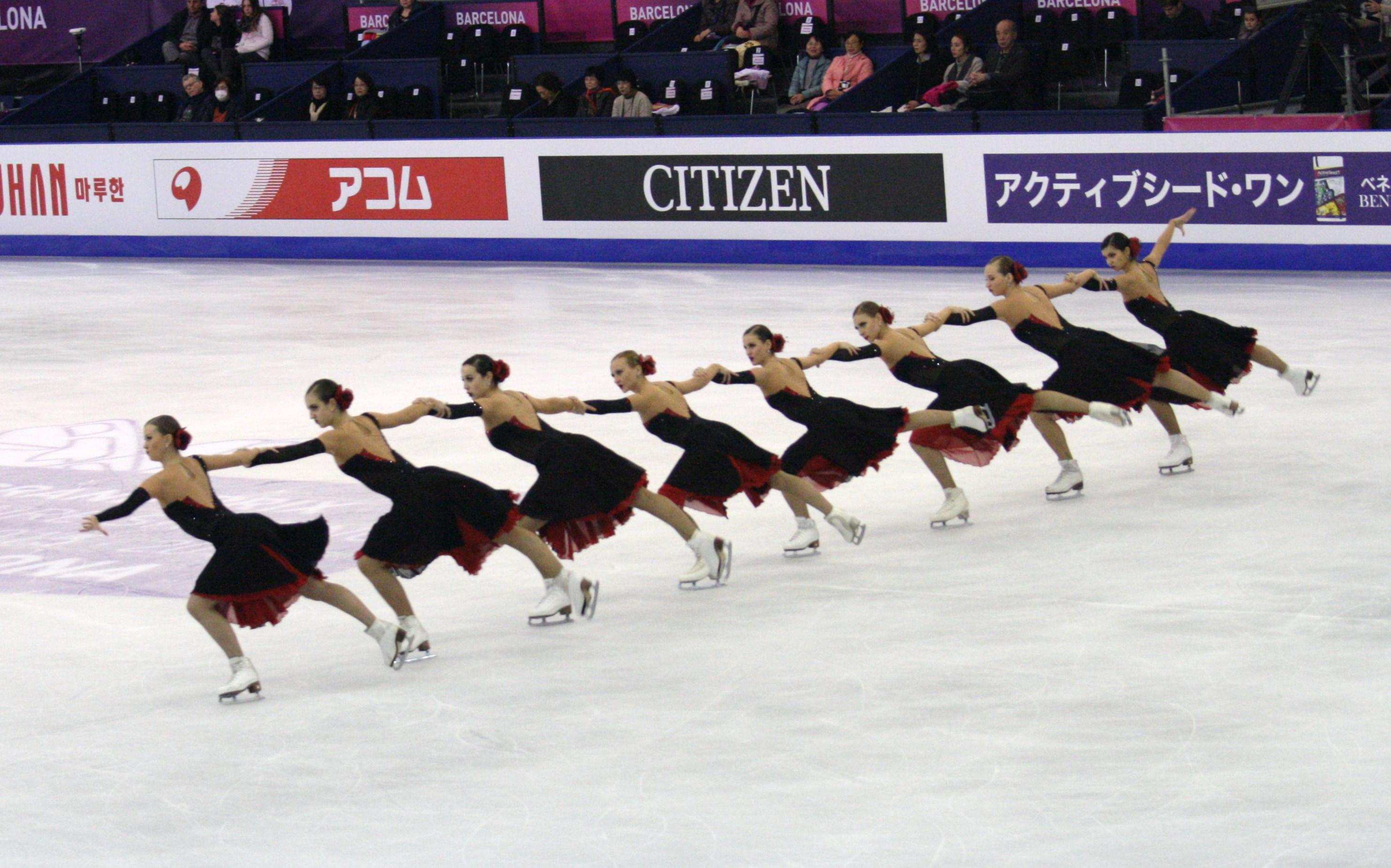 example of synchronized skating