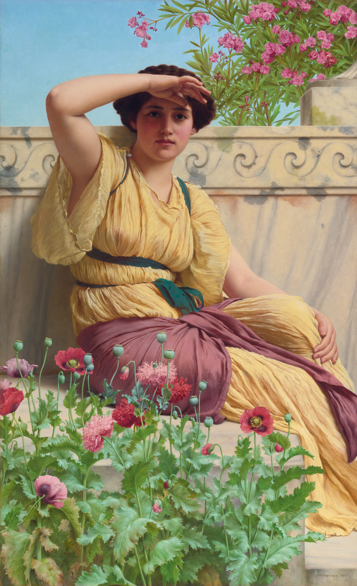 John William Godward Oil Painting