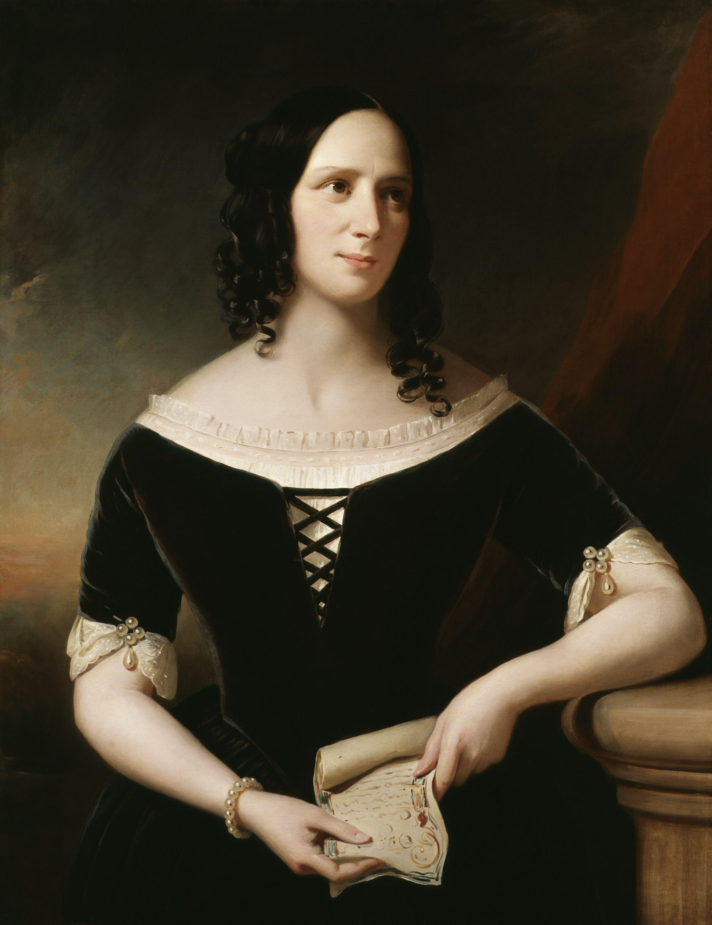 Agnes Strickland by [[John Hayes (painter) John Hayes]], 1846