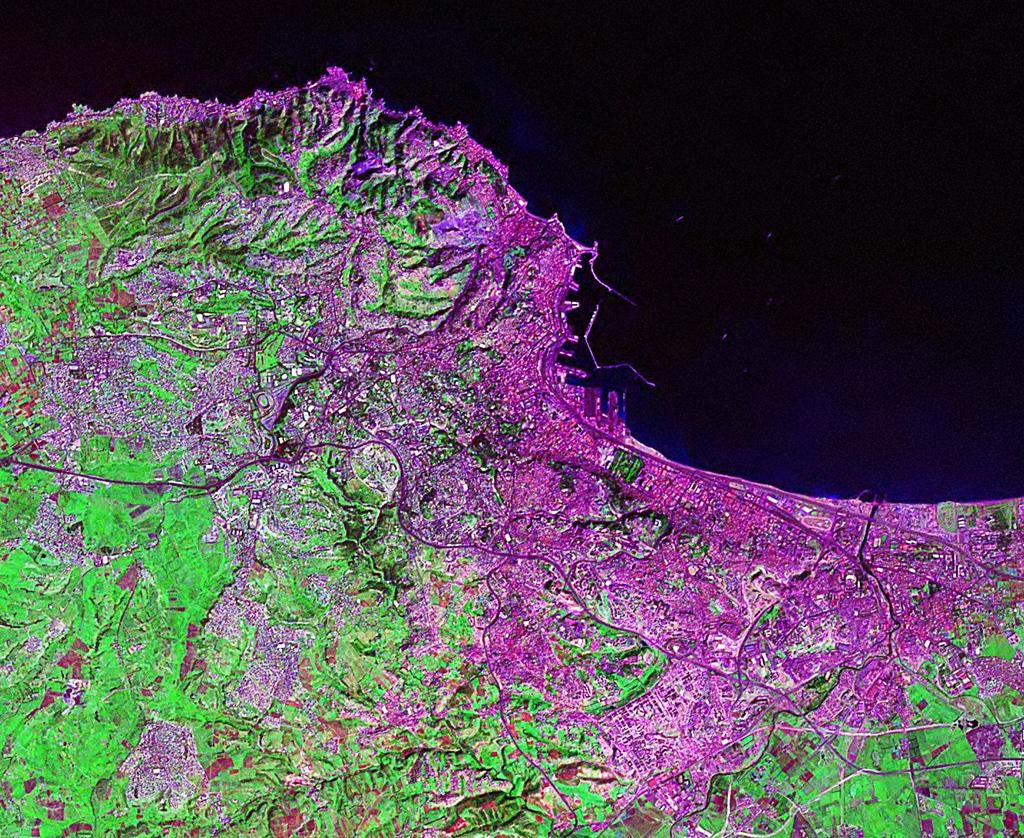 Vue par satellite de la Baie d'Alger, NASA