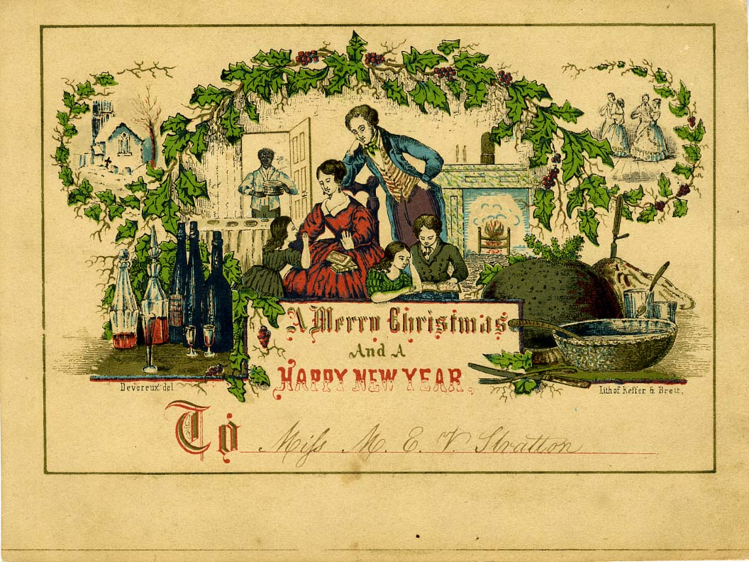 Card Making Ideas In Australia Part - 45: A 19th-century American Christmas Card