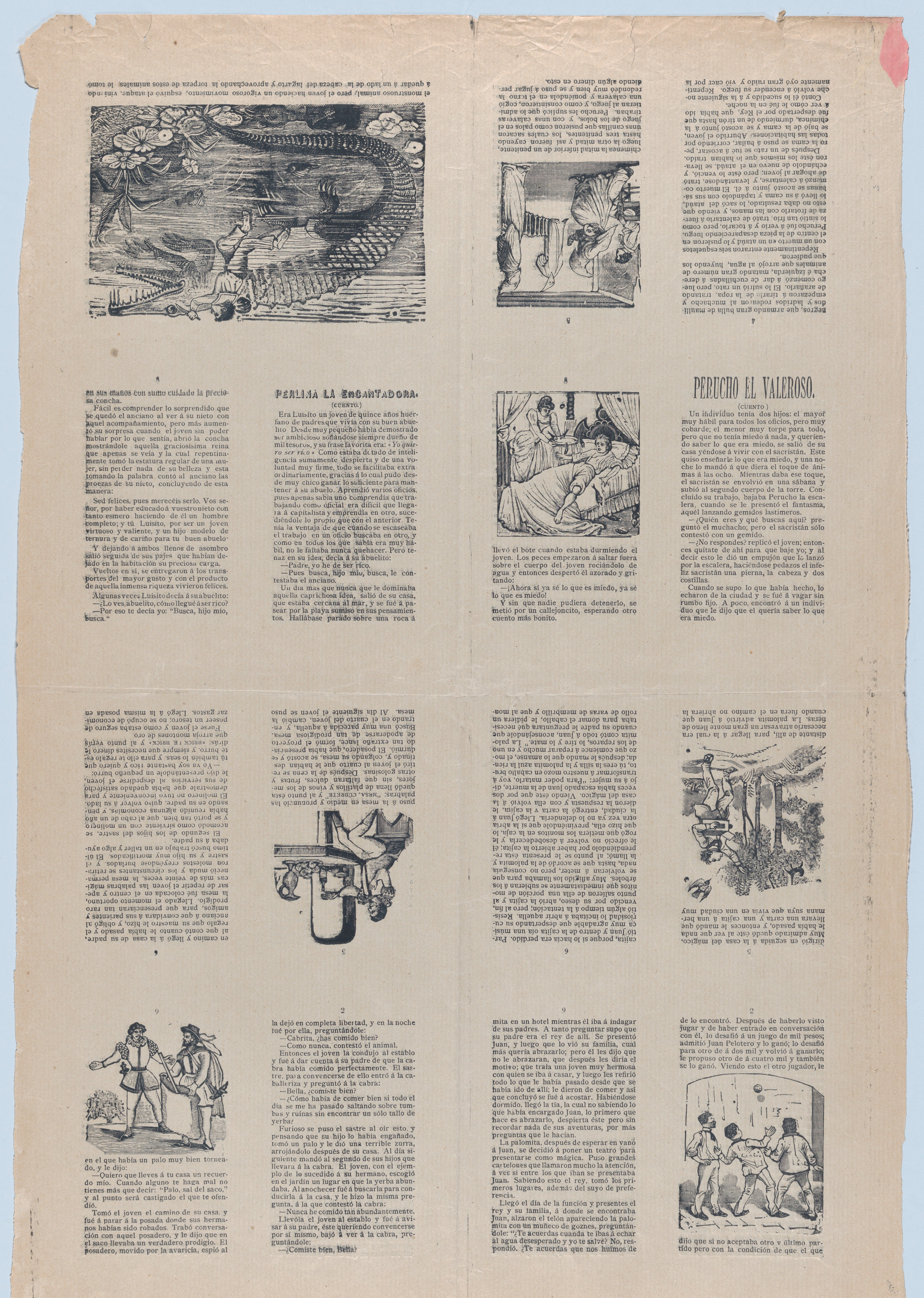 Camino Per La Casa file:an uncut sheet printed on both sides with pages from