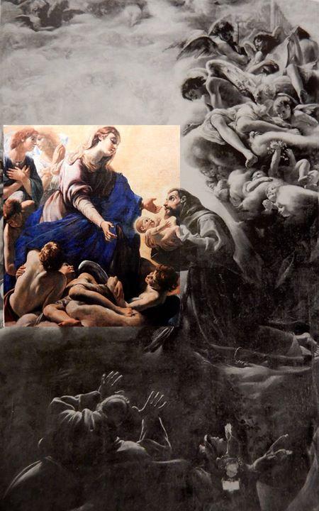 Apparizione della Vergine a san Francesco (insieme) - Borgianni.jpg