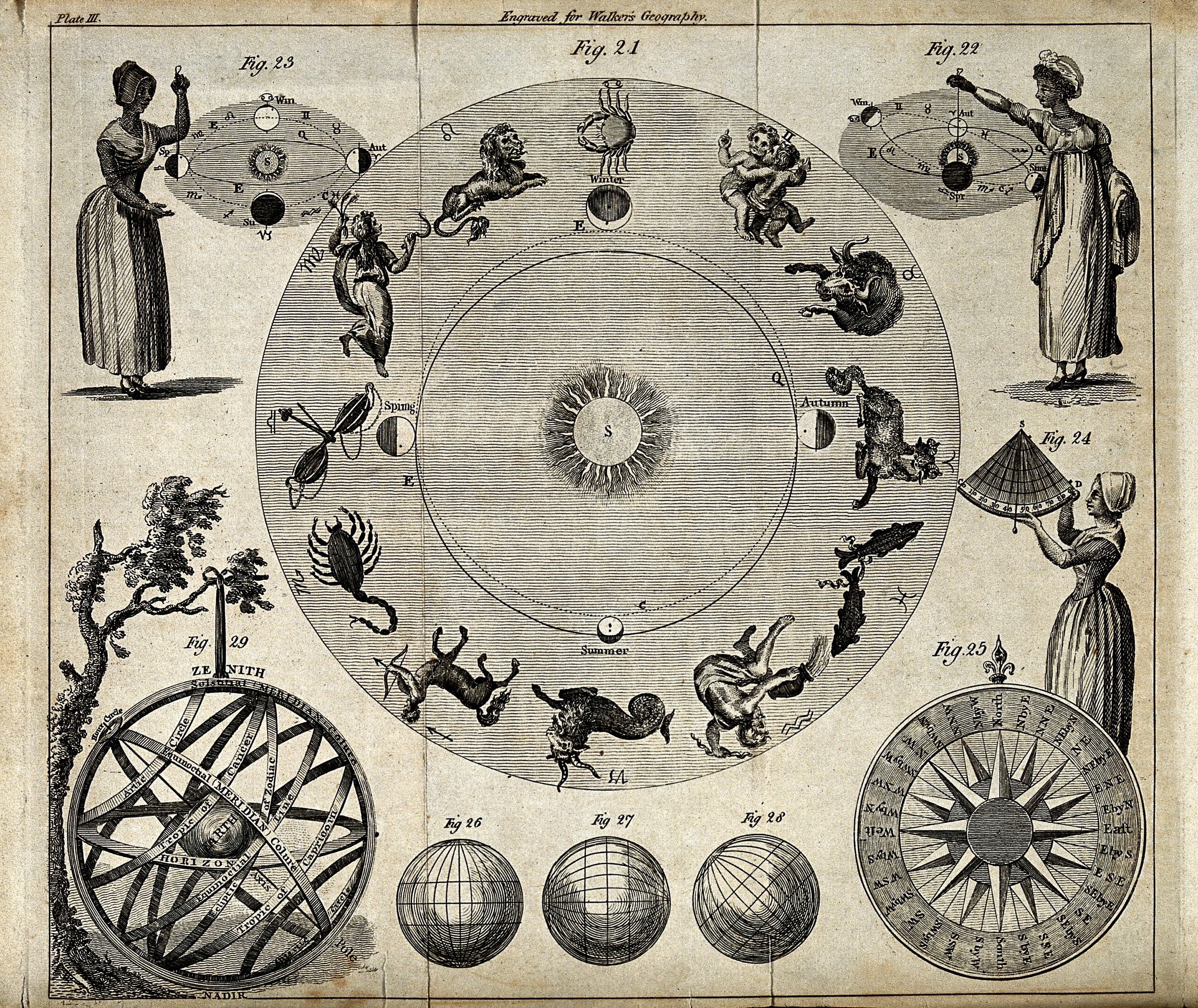 Full Zodiac Chart Calculator: Astronomy; the twelve signs of the zodiac with other astron ,Chart