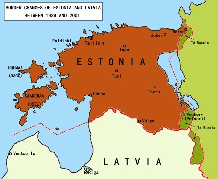 Zmiany granicy (Źródło: Wikimedia Commons)