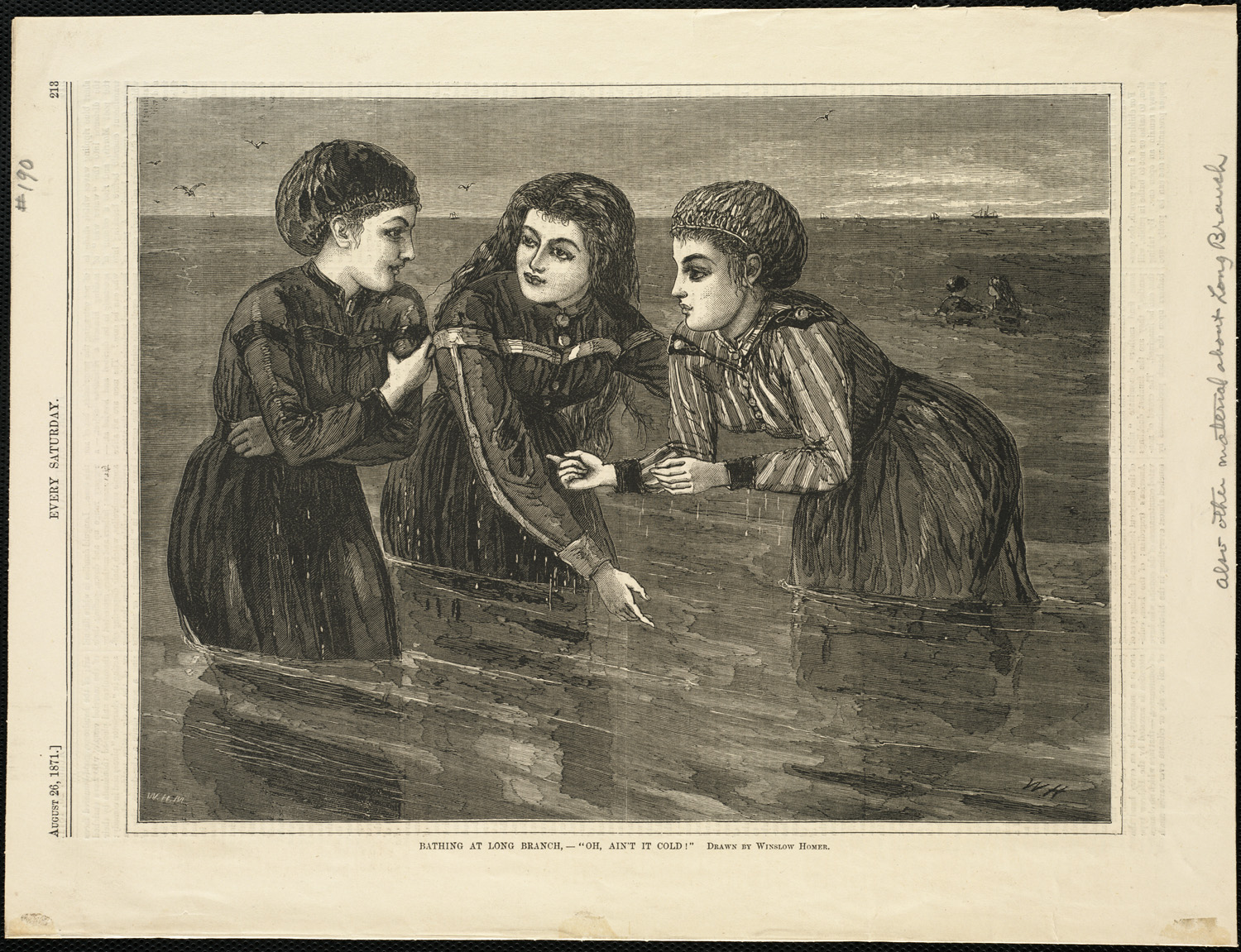 An 1871 work by Cantabrigian Winslow Homer, subtitled