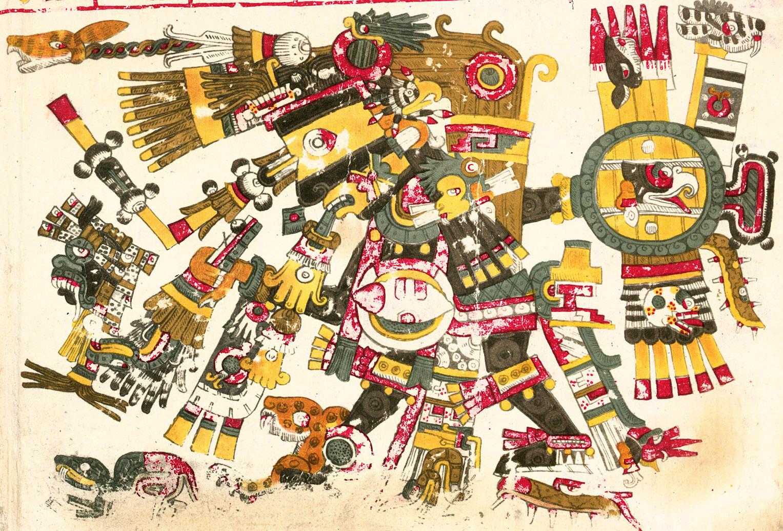 Depiction of Tezcatlipoca
