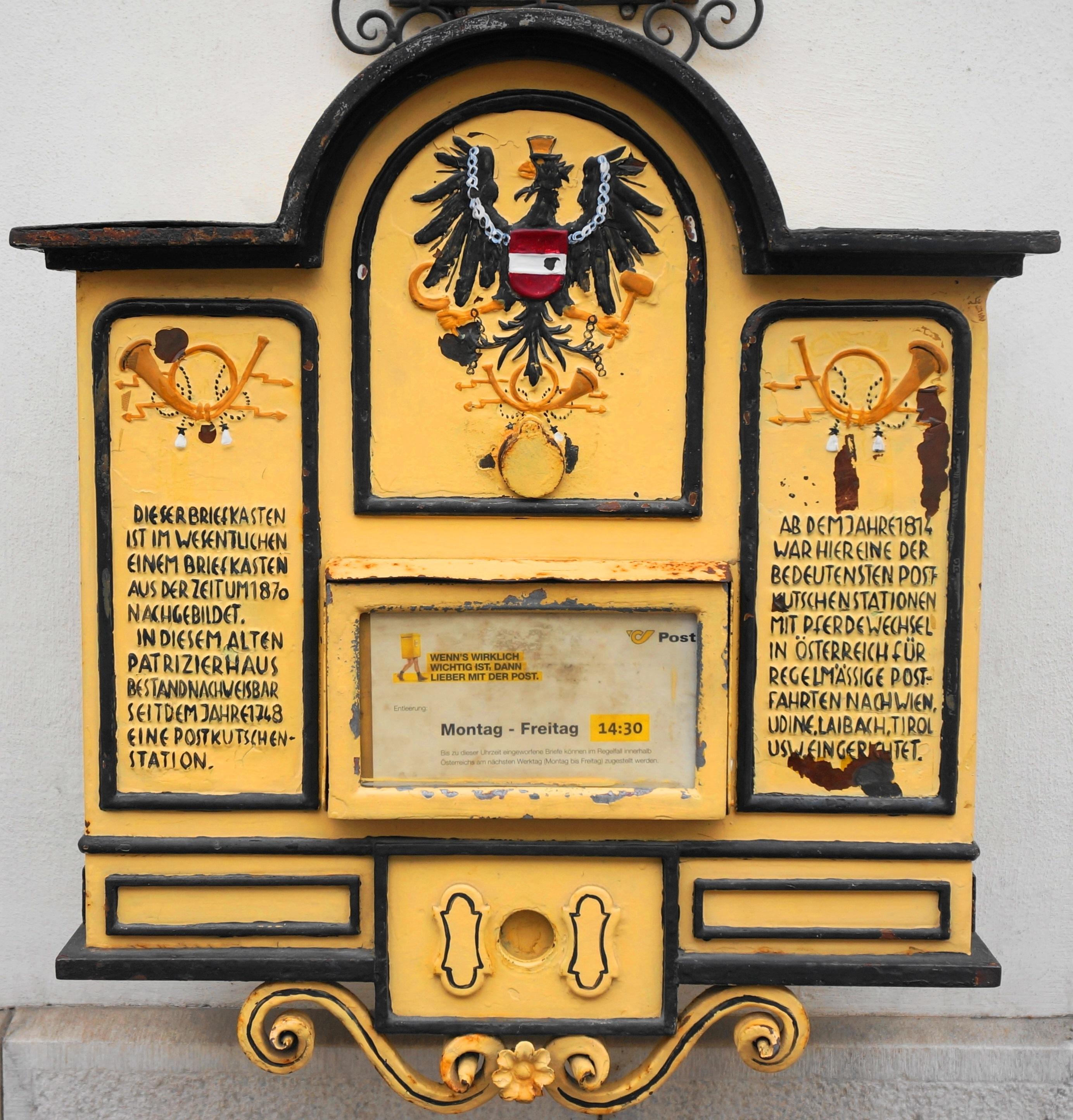 File:Briefkasten Aus Der Zeit Um 1870 Am Hotel Post In
