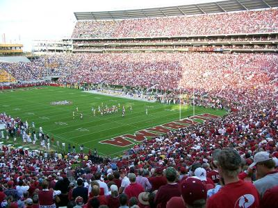 Bryant-Denny stadium has now been expanded to seat over 101,000.