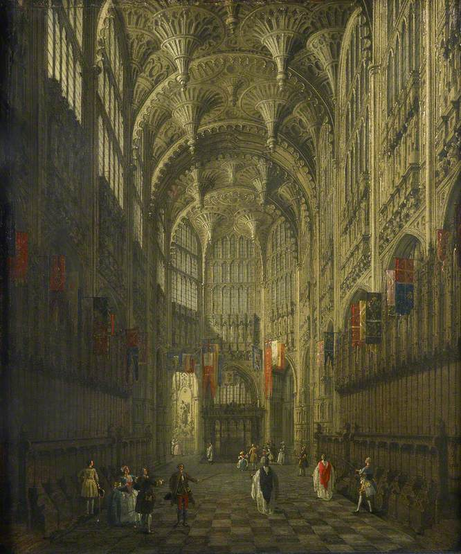 File:Canaletto - The Interior of Henry VII\'s Chapel, Westminster ...